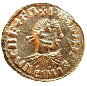 Original gold coin with Charlemagne's image