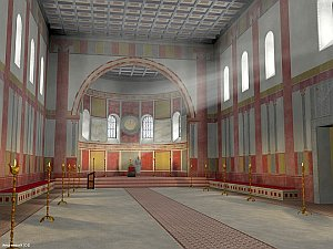Digital reconstruction of the Aula regia
