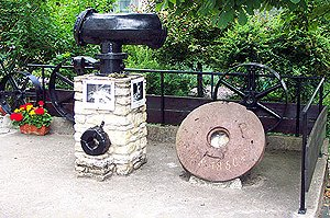 Millstones and other parts of the machinery from the 19th and 20th centuries